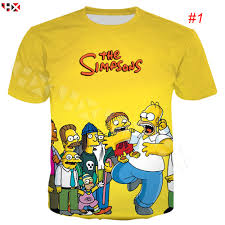 HX Cartoon The Simpsons Anime 3D <b>Print Men Women Casual</b> T ...