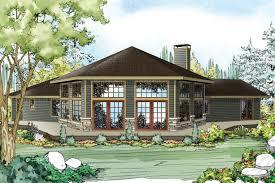 ranch house plan silvercrest 11 143 rear elevation