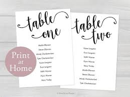 5x7 Wedding Seating Chart Cards Printable Tables 1 20 Editable Guest Names Template Instant Download Pdf