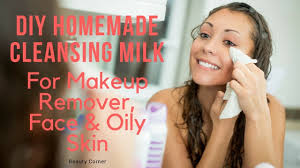 cleansing milk for makeup remover and face oily skin 100 natural