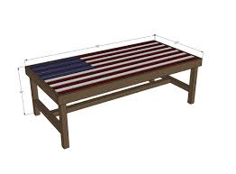 coffee table variable height dimensions diy flag inspired outdoor wood standard in mm inches 1600