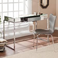 bathroom vanity table and chair. hollywood regency bathroom vanity makeup mirrored chrome furniture table glam and chair n