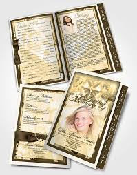Funeral Programs Samples Classy 48 Page Graduated Step Fold Funeral Program Template Brochure Autumn