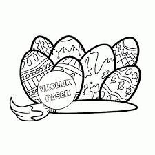 Leuk Voor Kids Beschilderde Eieren Idee Kleurplaat Eieren20