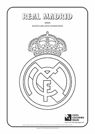 Small Picture Cool Coloring Pages Others Real Madrid logo Coloring page