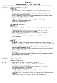Operations Intern Resume Samples Velvet Jobs