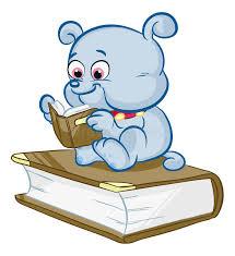 cartoon dog reading stock vector ilration of cartoons 36952356