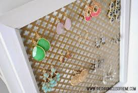 the chronicles of home easy earring organizer you can make at home in about five