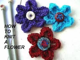 Knitted Flower Pattern Classy HOW TO KNIT A FLOWER Diy Knitted Flower For Brooches Hats Purses