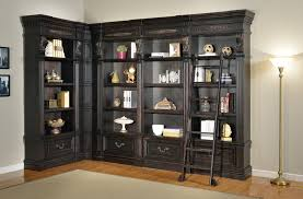 Living Room Display Cabinets L Shaped Large Black Wooden Display Cabinet With Sapien Bookcase
