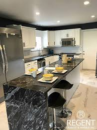 the team at regent granite are skilled and experienced in creating stunning custom waterfall granite countertops
