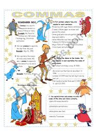 Commas Easy Reference And Activities Esl Worksheet By Silvye