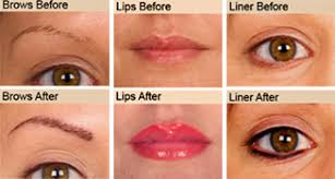 permanent makeup before after
