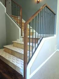 handrail ideas for decks stair railing outdoor rustic staircase best stairs on industrial basement metal