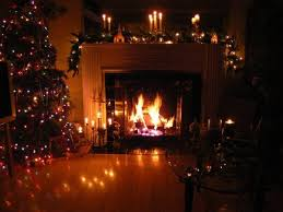 Romantic night by the Fireplace warm and cozy