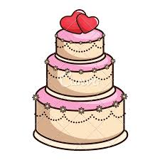 Wedding Cake Vector Illustration Icons By Canva