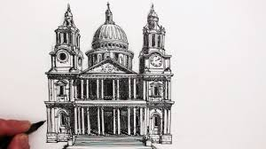 Architectural drawings of famous buildings School Japanese Building How To Draw Famous Buildings St Pauls Cathedral London Youtube How To Draw Famous Buildings St Pauls Cathedral London Youtube