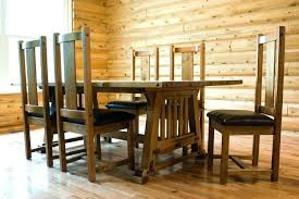 magnificent mission style dining set mission style dining room tables mission craftsman style dining table and