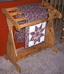 Quilt Racks handcrafted from wood, by Ronnie Probert Woodworking ... & Quilt Racks Display your favourite quilts with pride on an heirloom Quilt  Rack The choices of size, style, type of wood and finish are up to your  personal ... Adamdwight.com
