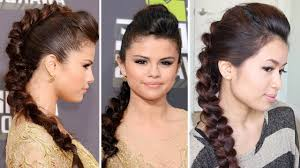 Selena Gomez Hair Style selena gomez mtv movie awards 2013 hairstyle braided faux hawk 2172 by wearticles.com