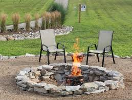 super easy stacked stone firepit