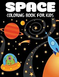 e coloring book for kids fantastic outer e coloring with planets astronauts e ships rockets children s coloring books by blue wave press