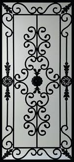 wrought iron door inserts stocked by stained glass serving vaughan
