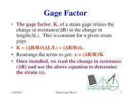 gage factor