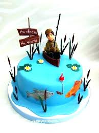 Fish Themed Birthday Cakes Fishing Themed Birthday Cake Fishing