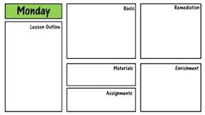 Single Subject Lesson Plan Template Single Subject Daily And Weekly Lesson Plan Template Non Editable