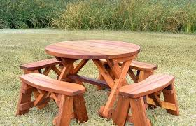round wooden picnic table large round picnic table plans designs wooden wood with benches modern outdoor