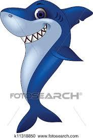 smiling shark clipart.  Clipart Clipart  Smiling Shark Cartoon Fotosearch Search Clip Art Illustration  Murals Drawings In Shark H