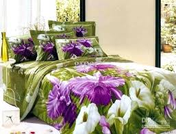 comforter purple green flower fl bedding set queen size in and bay packers