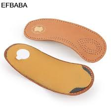 efbaba leather orthopedic insoles flat foot arch support pads gel cushions heel inserts shoe accessories orthopedic