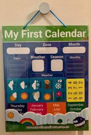 Day Date Weather Chart Educational Magnetic My First Calendar Weather Chart