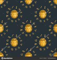 знак льва узором знак зодиака лев бесшовные узор гороскоп