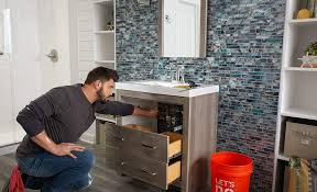 how to install a bathroom vanity the