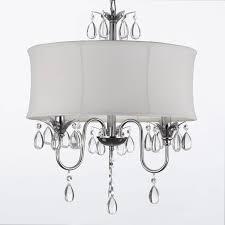 drum light chandelier. WHITE DRUM SHADE CRYSTAL CEILING CHANDELIER PENDANT LIGHT FIXTURE Drum Light Chandelier N