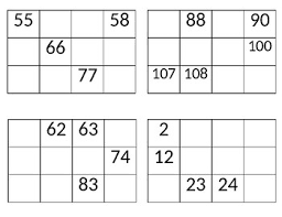 Blank 120 Chart Missing Number Chunks Of A 120 Chart