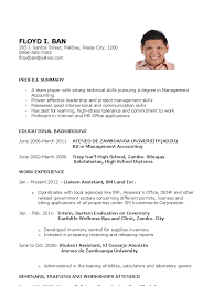 Best Solutions of Sample Resume Fresh Graduate Accounting Student Also  Sample Proposal