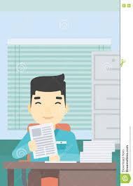hr manager checking files vector illustration stock vector hr manager checking files vector illustration