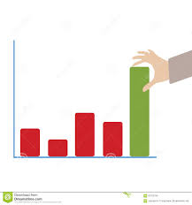 Push Stock Chart Abstract Conceptual Image Of Business Hand Push The Business