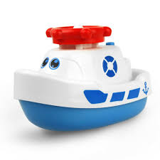 creative electric water jet boat bath tub toy for children