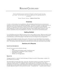 Resume Template Good Objective Line For Examples Regarding Great