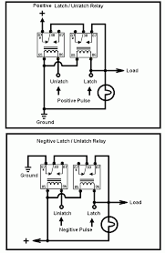latching relay to use a momentary button how does a latching relay work at 12 Volt Latching Relay Diagram