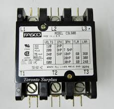torontosurplus com AC Contactor Wiring Diagram fasco c3l60b magnetic contactor, definite purpose, 3 pole, 120 vac, 50