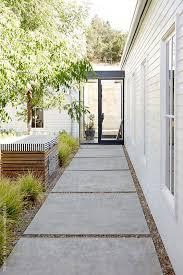 walkway in outdoor courtyard of modern