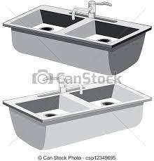 kitchen sink clipart black and white. kitchen sink - csp12349695 clipart black and white s