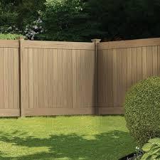 vinyl fence panels. Alluring Home Depot Vinyl Fence Panels Veranda Linden 6 Ft H X 8 W Cypress Privacy Panel E