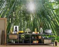 Beibehang De Muurschildering De Muur Groene Bamboe Behang Foto